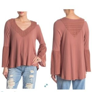 Free People Parisian Nights Top Color Rose NEW
